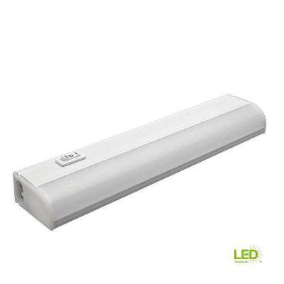 9 in. Plug In Linkable Undercabinet LED Strip Light with High, Off, and Low Setting