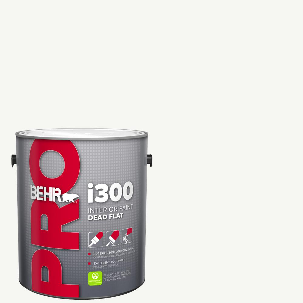 BEHR PRO 1 gal. i300 White Base Dead Flat Interior Paint