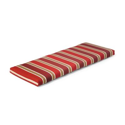 46.5 in. x 17.5 in. x 3 in. Chili Stripe Outdoor Bench Cushion