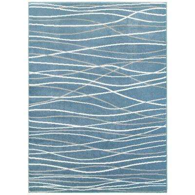 Grace Light Blue 7 ft. 9 in. x 9 ft. 5 in. Plush Indoor Area Rug