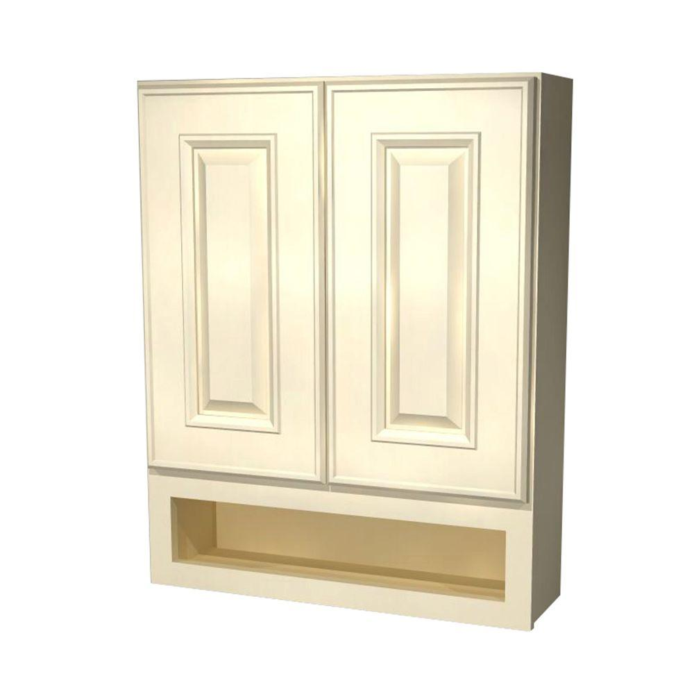 Holden Assembled 24x30x7 in. Boutique Wall Vanity Cabinet in Bronze Glaze
