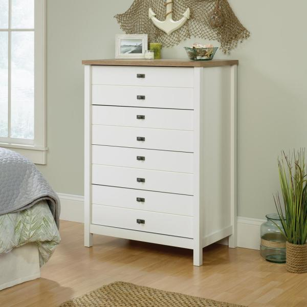 Cottage Road 4-Drawer Soft White Chest of Drawers