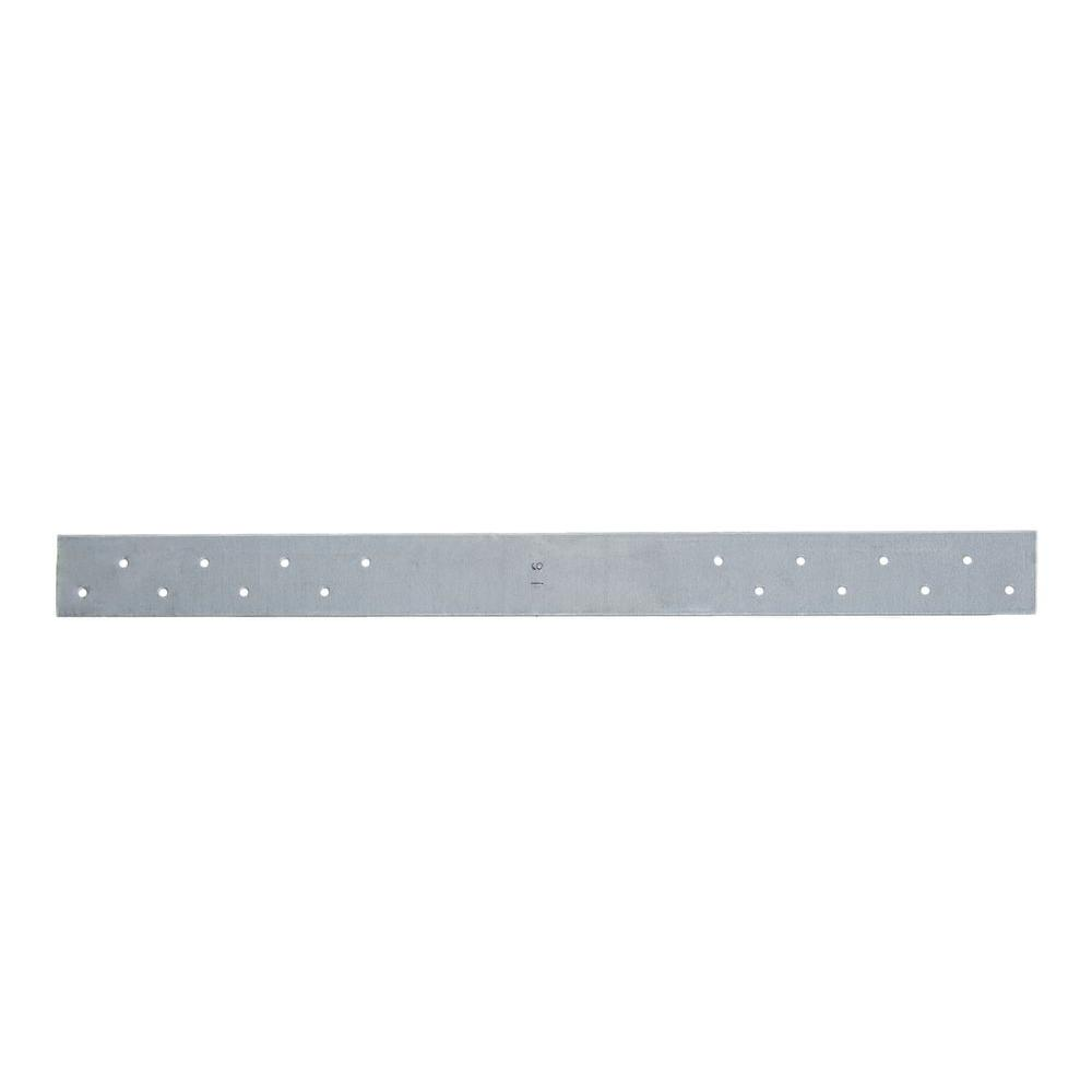 1-1/2 in. x 12 in. 18-Gauge 8 Holes FHA Nail Plate