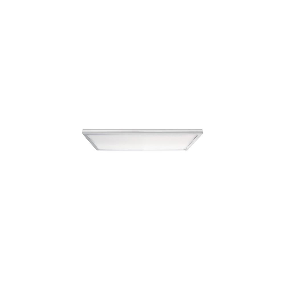 Leviton Skytile 20-Watt Brushed Aluminum 1 x 2 Integrated LED Flat Panel Light, Cool White Temperature