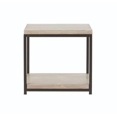 Anjou White Wash End Table