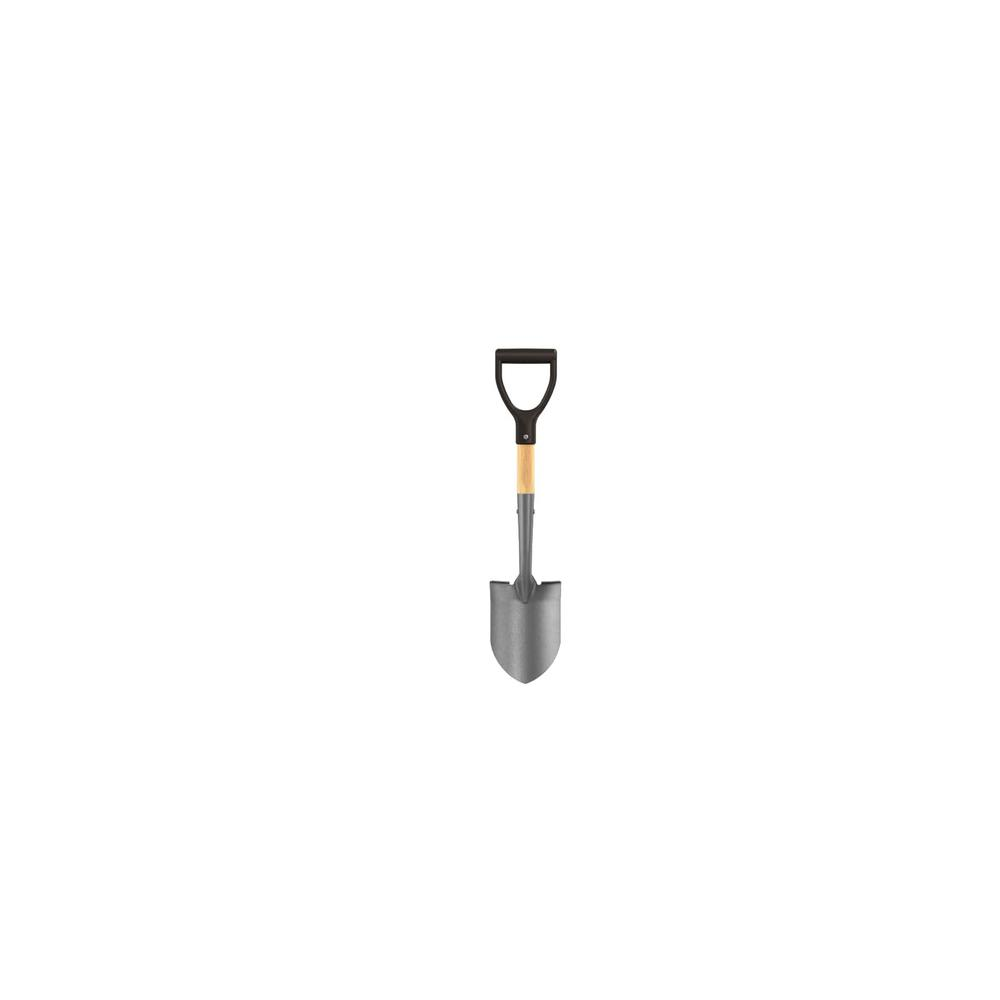 BON 19 in. Wood Handle General Purpose Mini Round Point Shovel