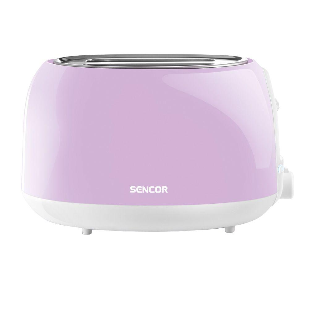 2-Slice Pastel Violet Toaster Electronic timer - 6 toasting intensity levels, Suitable for making both thick and thin toasts. Easy to clean (slide out crumb tray). High lift function for easy removal of smaller toasts. Color: Pastel Violet.