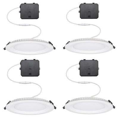 Ultra Slim 6 in. 900 Lumens Dimmable Canless Color Changing Integrated LED Recessed Trim All-In-One Downlight (4-Pack)