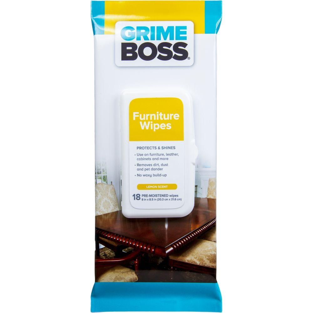 GRIME BOSS Furniture Wipes (18-Count)-G567W18 - The Home Depot