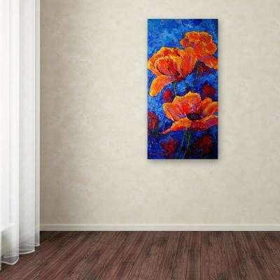 "19 in. x 10 in. ""Poppies II"" by Marion Rose Printed Canvas Wall Art"