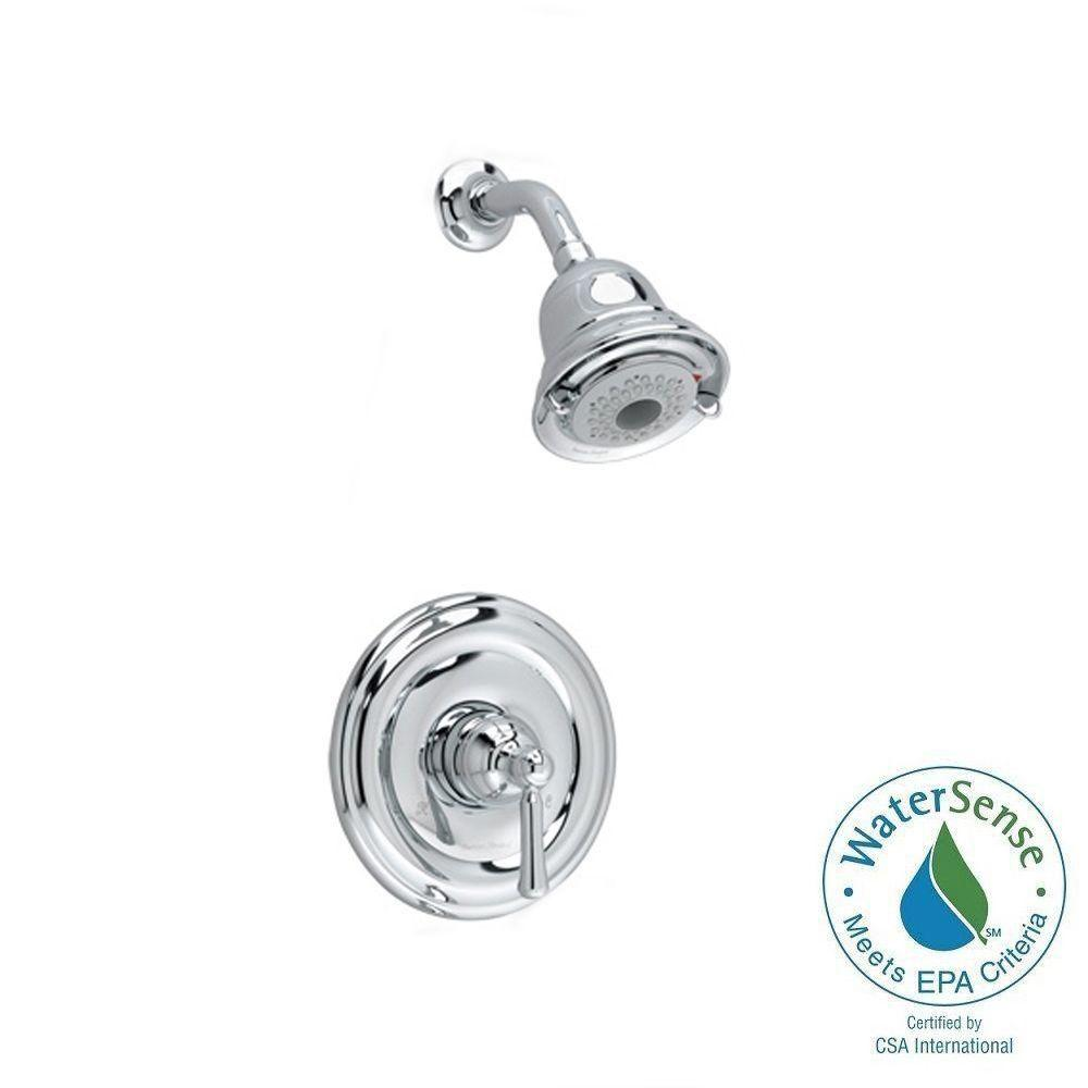 one piece shower faucet. Portsmouth 1 Handle Shower Only Faucet Trim Kit with Round Escutcheon in American Standard Berwick Tub and