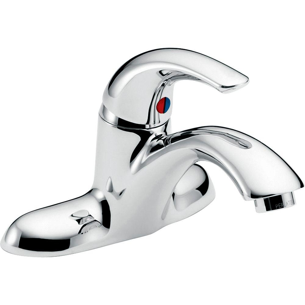 Delta Commercial 4 in. Centerset Single Handle Bathroom Faucet in