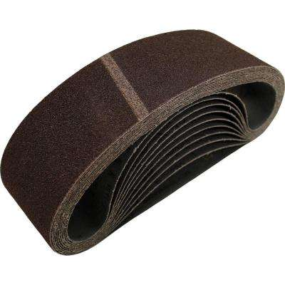 3 in. x 24 in. 100-Grit Abrasive Belt (10-Pack)
