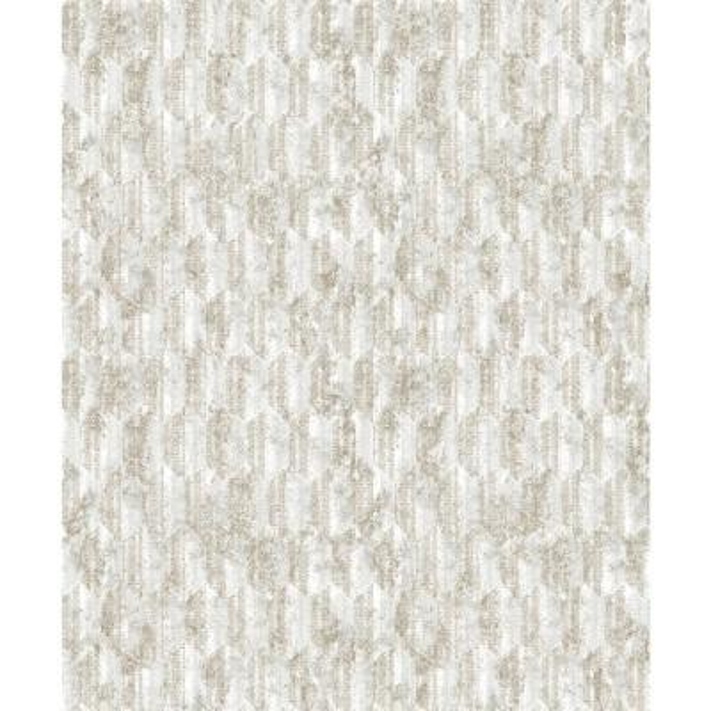 Kendall Off-White Geometric Wallpaper Sample