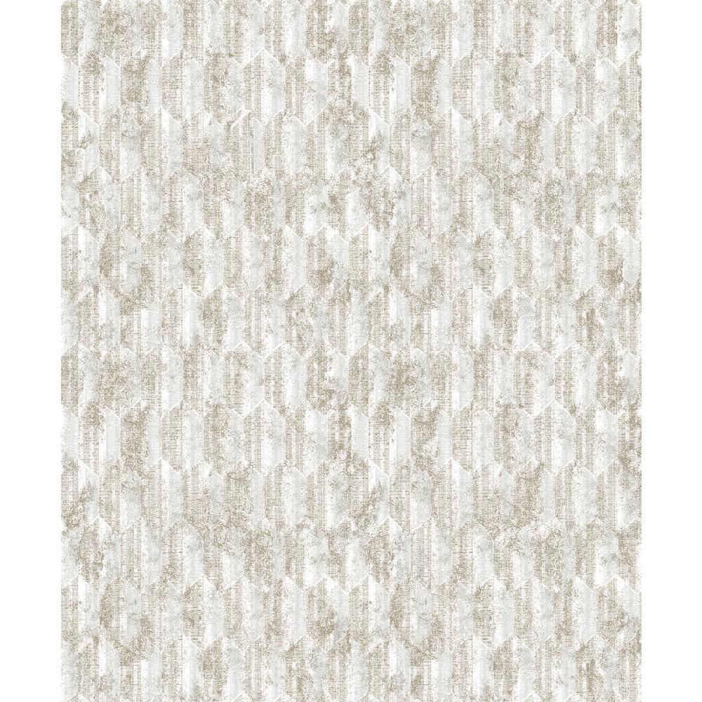 Decorline Kendall Off-White Geometric Wallpaper Sample