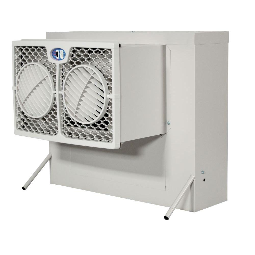Aerocool 2800 Cfm 2 Speed Front Discharge Window Evaporative Cooler For 400 Sq Ft With Motor