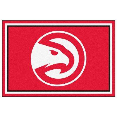NBA Atlanta Hawks Red 5 ft. x 8 ft. Indoor Area Rug