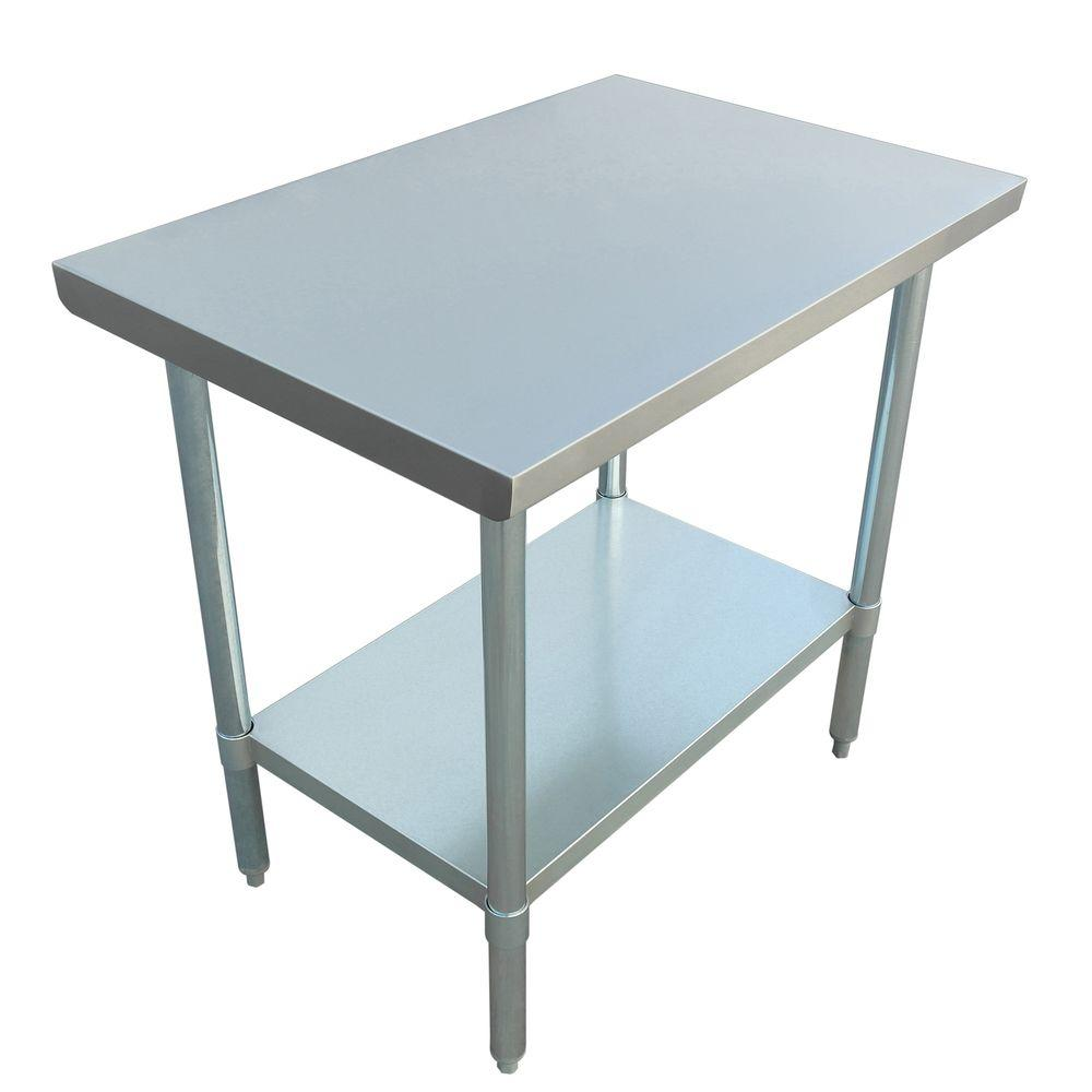 Excalibur Stainless Steel Kitchen Utility Table-ET184F2436G - The ...