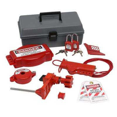 Valve Lockout Toolbox Kit with Safety Padlocks and Tags