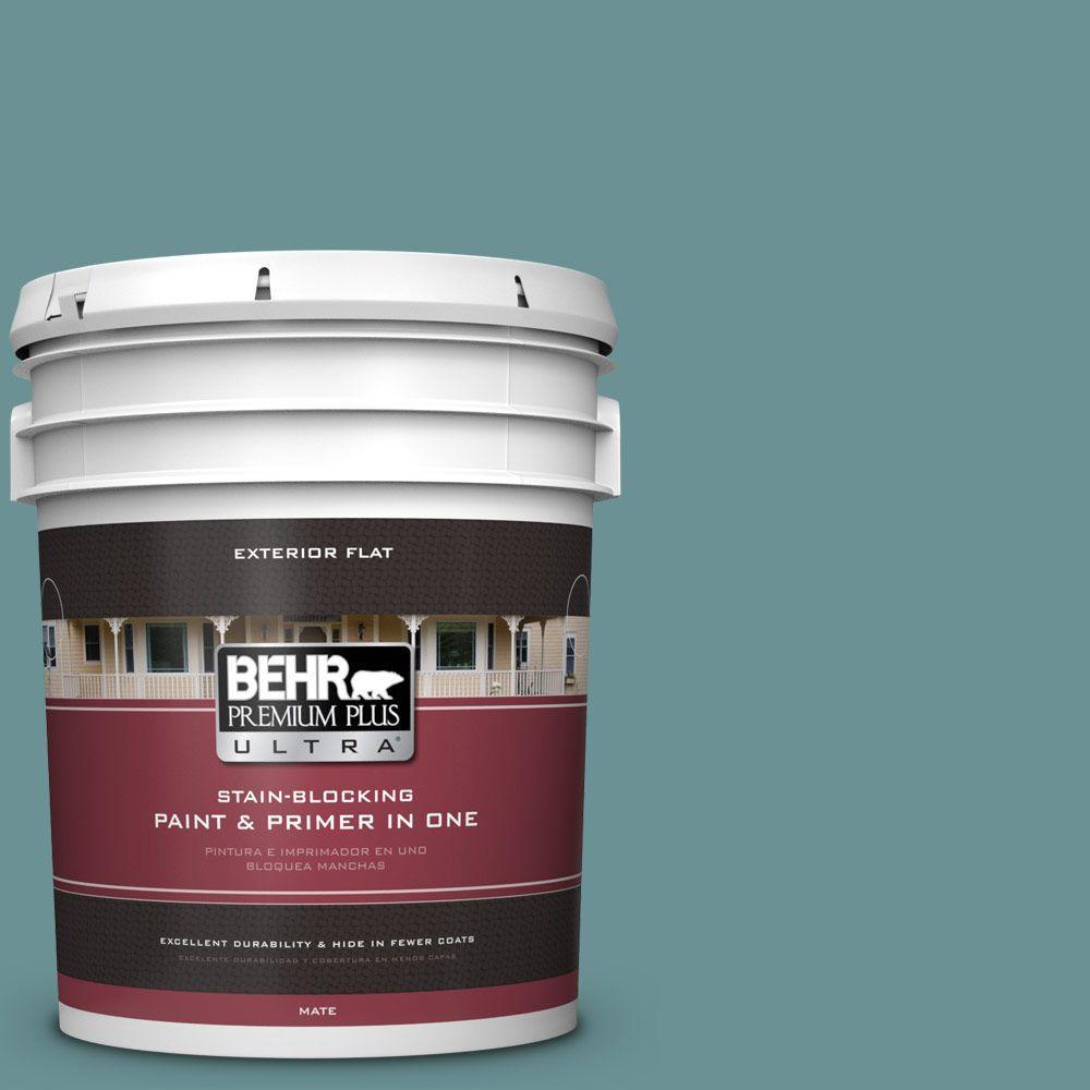 BEHR Premium Plus Ultra 5-gal. #T15-16 Blue Clay Flat Exterior Paint