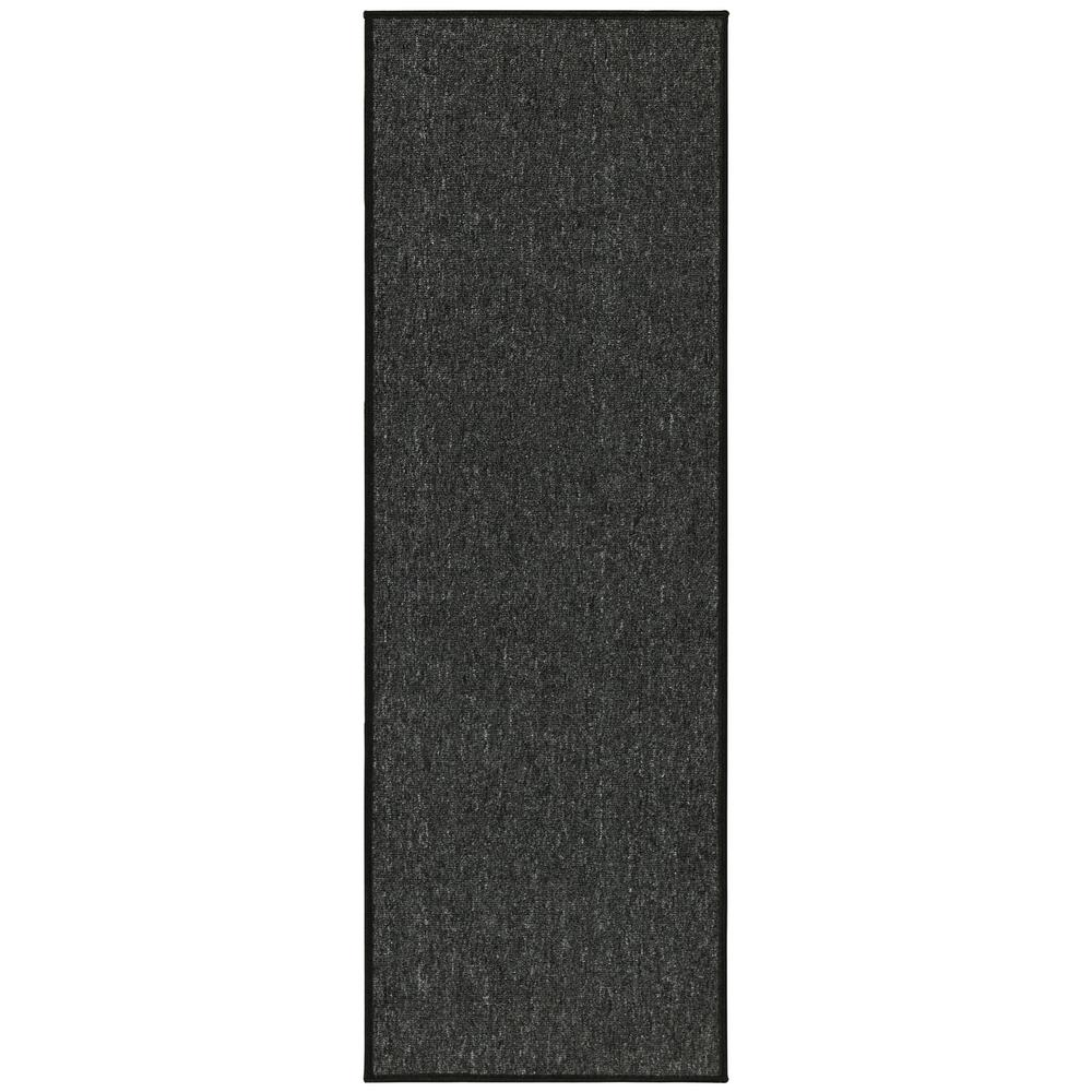 d1102f65991 Ottomanson Oscar Collection Charcoal 20 in. x 59 in. Solid Runner ...