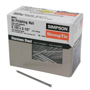 8d x 2-1/2 in. 12-Gauge 304 Stainless Steel Finishing Nail (1 lb.)