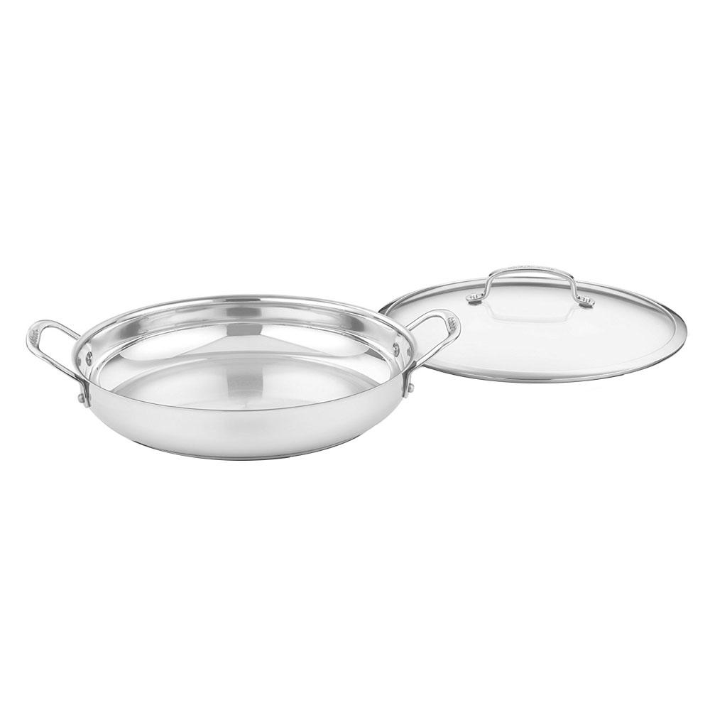 12 in. Stainless Everyday Pan With Cover