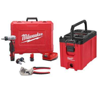 M12 12-Volt Lithium-Ion Cordless ProPEX Expansion Tool Kit W/(2) 1.5Ah Batteries, (3) Expansion Heads & Packout Tool Box