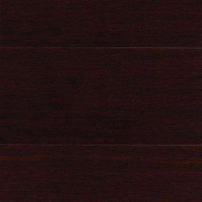 Take Home Sample - Strand Woven Java Click Lock Bamboo Flooring - 5 in. x 7 in.