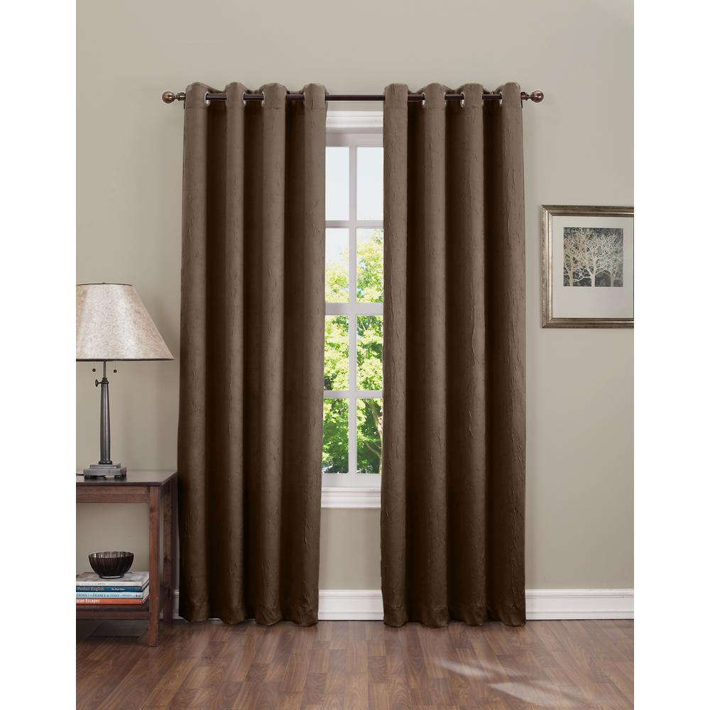 L Crushed Room Darkening Curtain Panel In