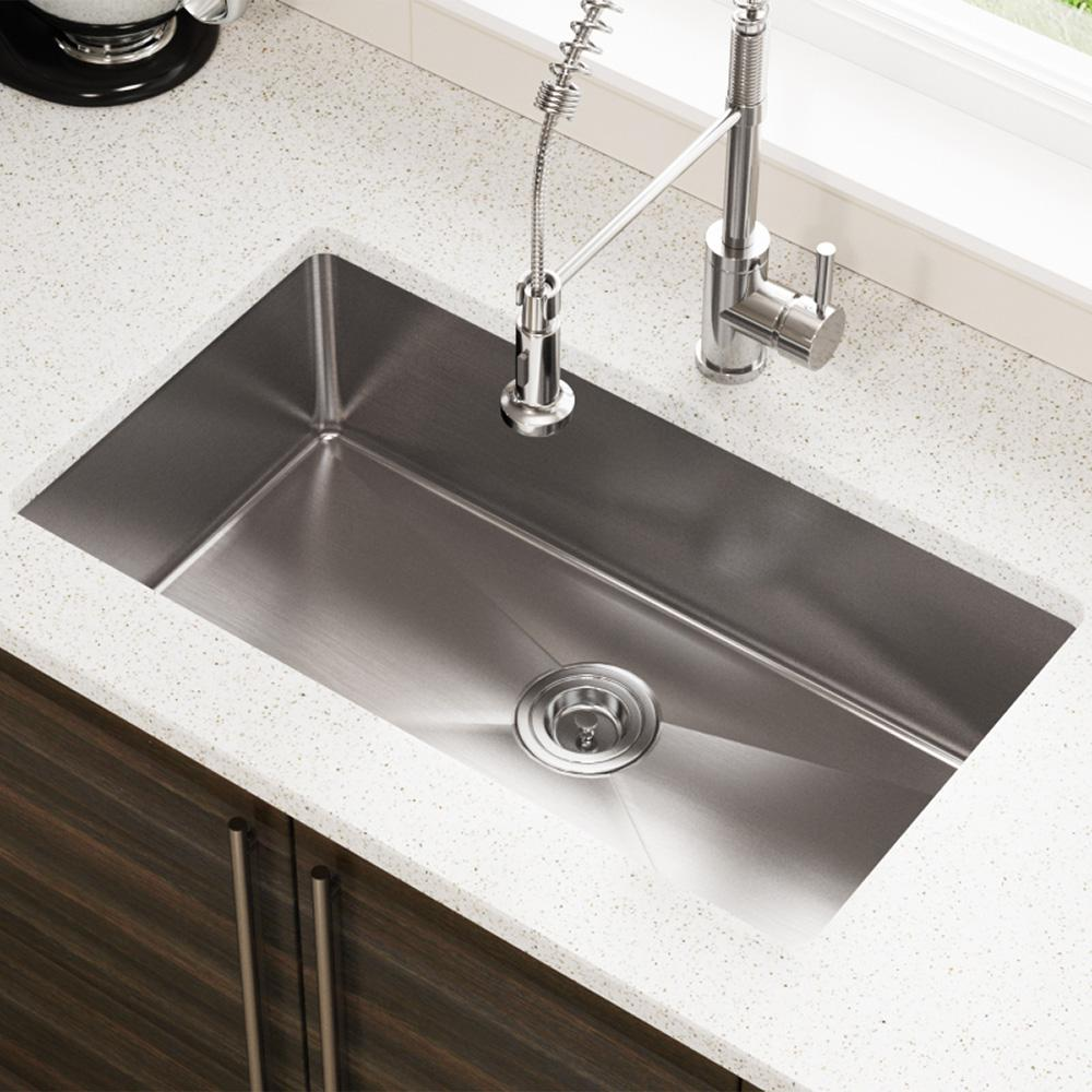 Mr Direct Undermount Stainless Steel 31 In Single Bowl