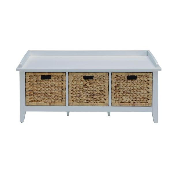 ACME Furniture Flavius White Storage Bench 96759