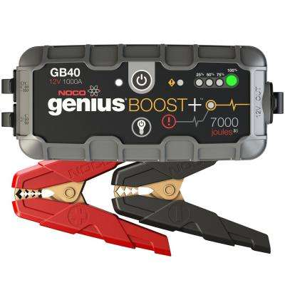 GB40 1000 Amp 12-Volt UltraSafe Lithium Jump Starter For Up To 6-Liter Gasoline And 3-Liter Diesel Engines