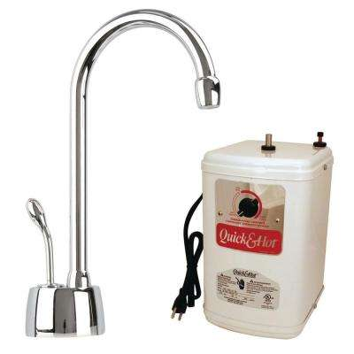 Velosah Single-Handle Hot Water Dispenser Faucet with Instant Hot Tank in Polished Nickel