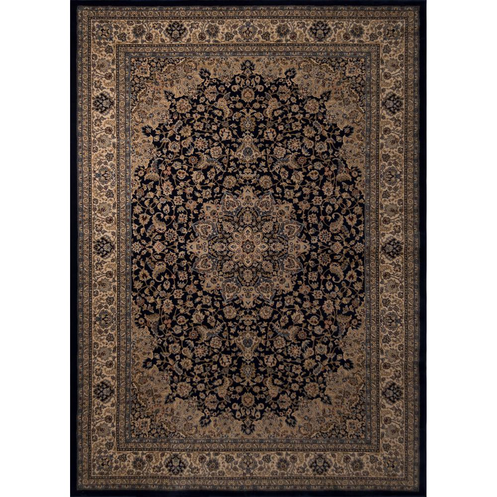 Balta US Classical Manor Blue 6 ft. 6 in. x 9 ft. 6 in. Area Rug