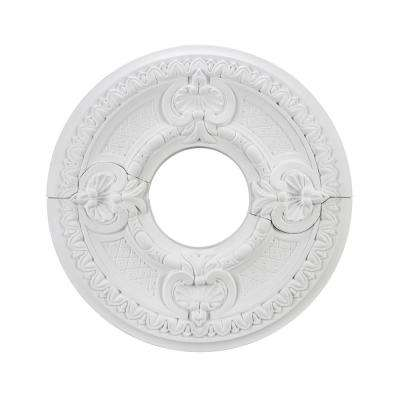 16-1/2 in. White Ceiling Medallion 2-Piece