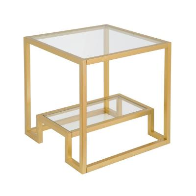 Athena 22 in. Gold Side Table