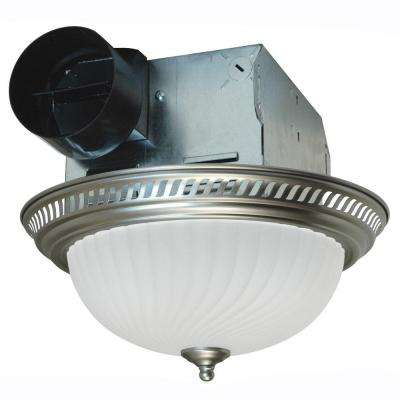 Decorative Nickel 70 CFM Ceiling Exhaust Fan with Light