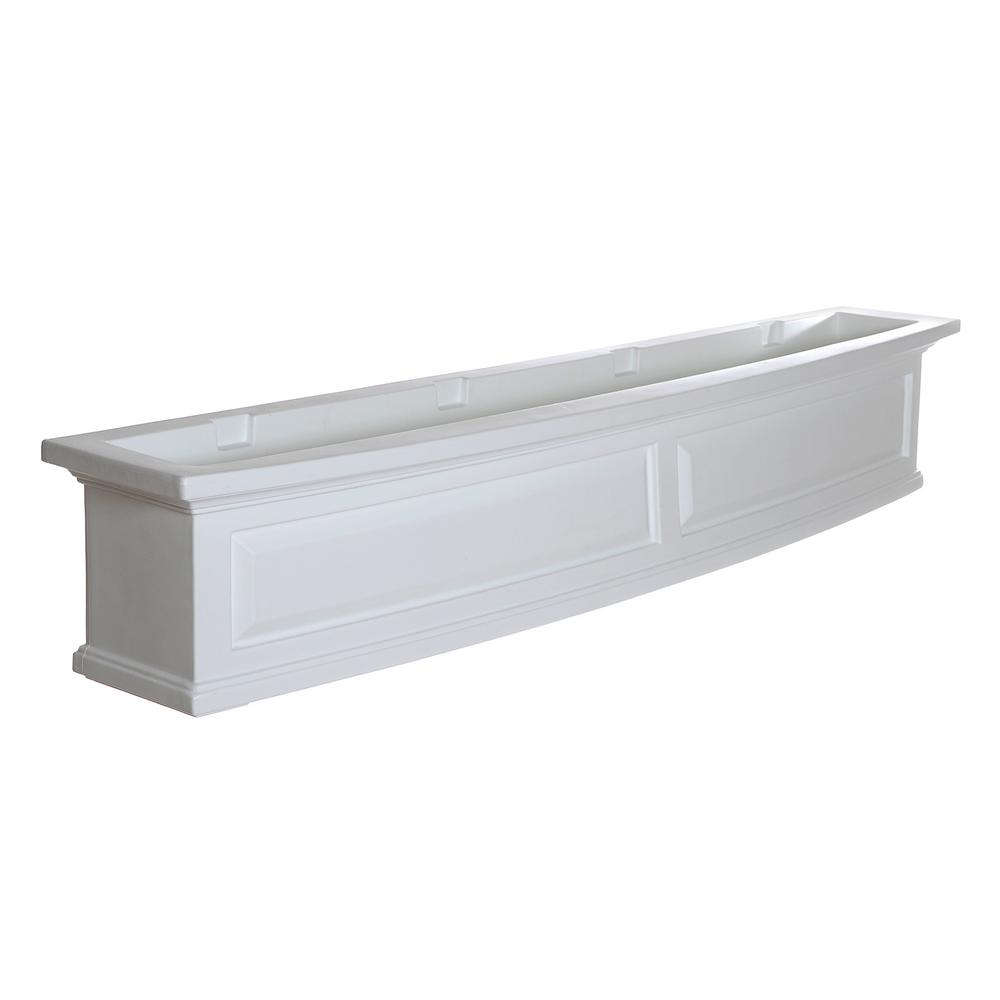 Mayne 60 in. x 11.5 in. White Plastic Window Box
