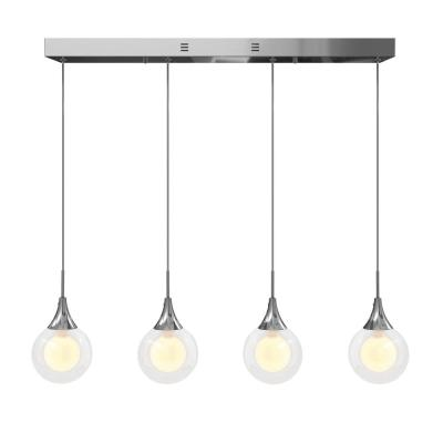 Frosted Globe 11-Watt Chrome Integrated LED Pendant