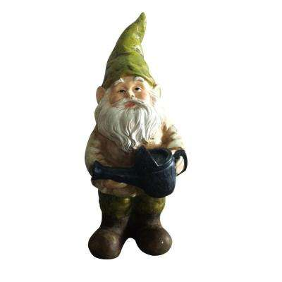 Gnome with Watering Can Statue