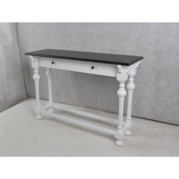 StyleCraft Church St. White and Black Console Table (2-Drawer)