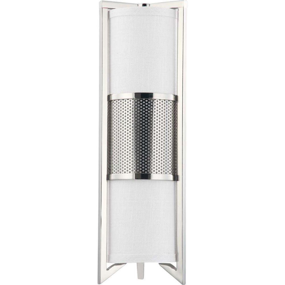 Glomar 3-Light Polished Nickel Vertical Sconce