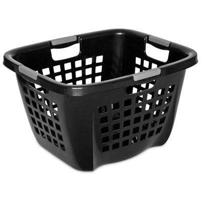 2.1-Bushel Black Laundry Hamper