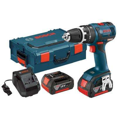 18 Volt Lithium-Ion Cordless Electric 1/2 in. Brushless Compact Hammer Drill/Driver Kit with Hard Case