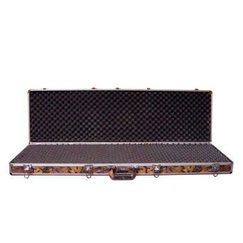 Double Rifle Aluminum Camo Gun Case (Key and Lock Combo Option)