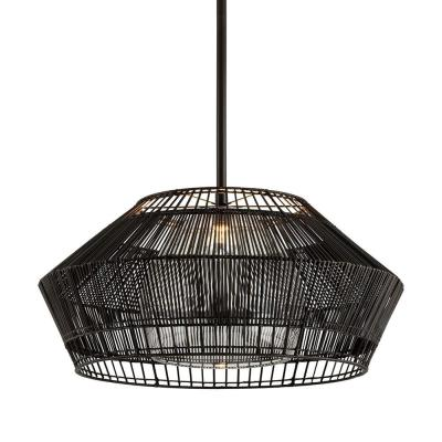Hunter Point 36 in. W 1-Light Espresso Pendant