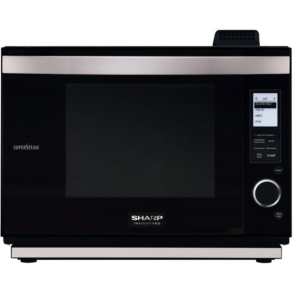 Sharp Pro Series 1.0 cu. ft. Countertop Convection Microwave in Black with Sensor Cooking-DISCONTINUED