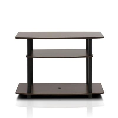 Turn-N-Tube 31.5 in. Espresso and Black Particle Board TV Console Fits TVs Up to 32 in. with Open Storage