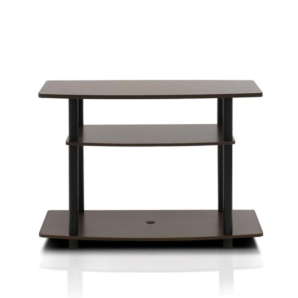 Furinno Turn-N-Tube Espresso 3-Shelf TV Stand 13192EX/BK